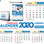 download template kalender 2020 vektor