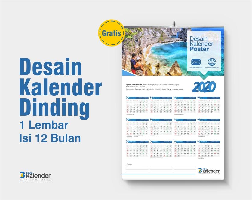 desain kalender dinding 2020 12 bulan