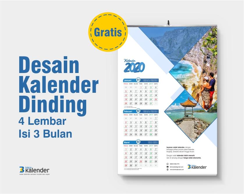 desain kalender dinding 2020 isi 3 bulan
