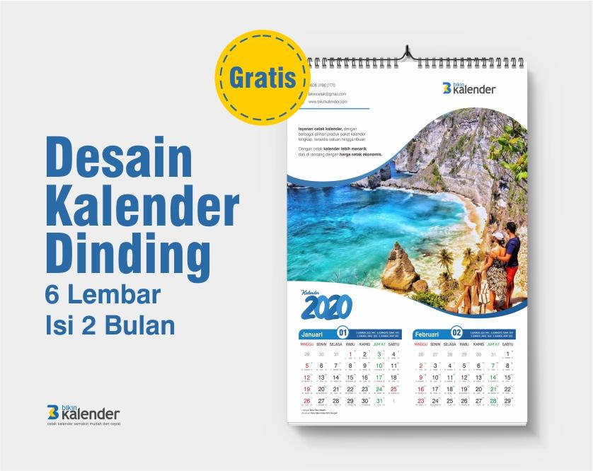 desain kalender dinding 2020 isi 2 bulan