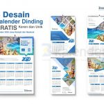 Download desain kalender dinding 2020